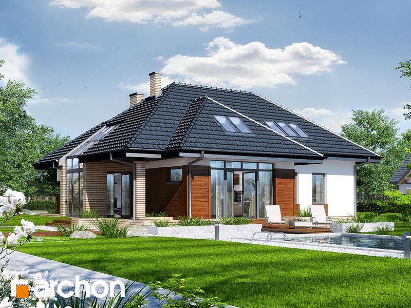 gotowy projekt Dom w pigwowcach 3 widok 1