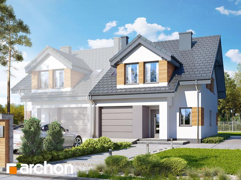 gotowy projekt Dom w klematisach 12 (BT) widok 1