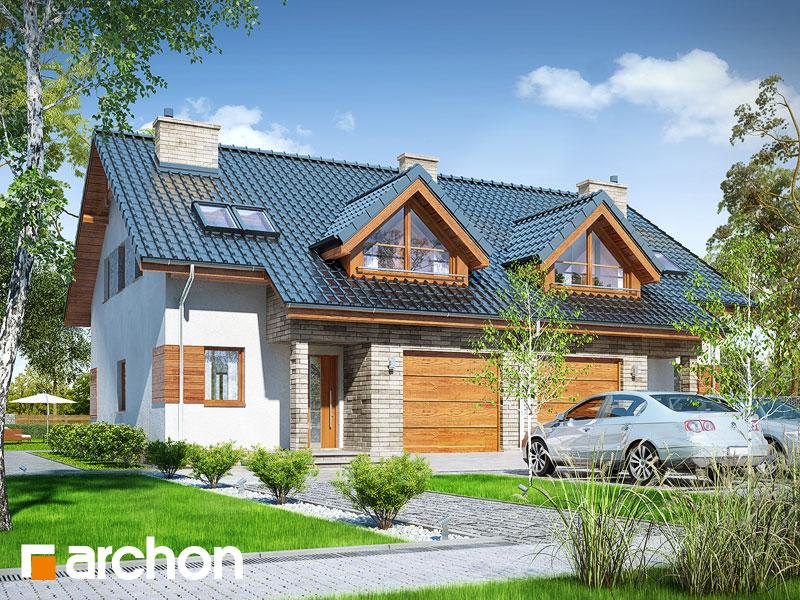 gotowy projekt Dom w klematisach 10 (A) widok 1