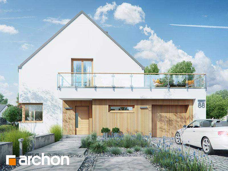 projekt Dom w amburanach (A) widok 1