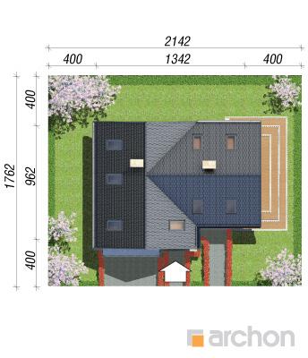projekt Dom w mango sytuacja