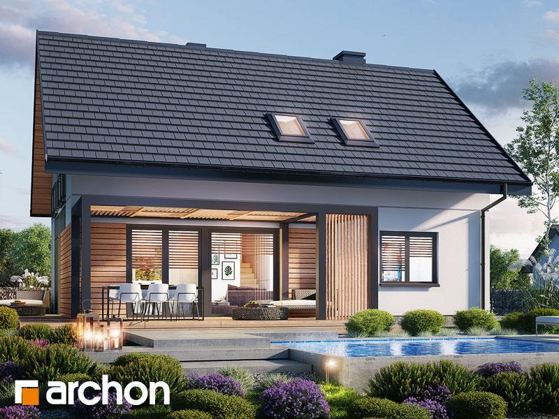 gotowy projekt Dom w malinówkach 14 widok 1
