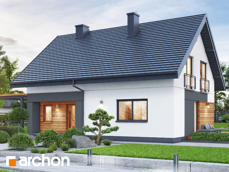 gotowy projekt Dom w malinówkach 14 widok 2