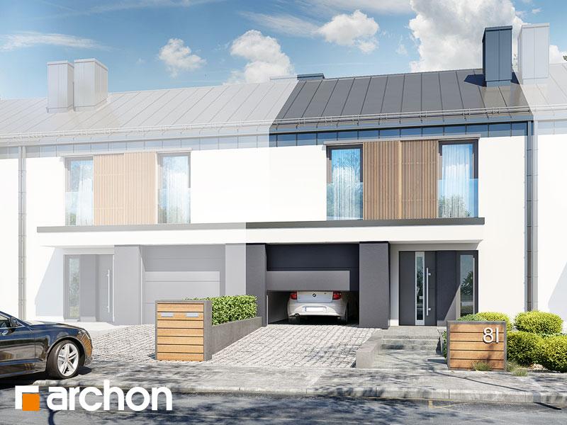 gotowy projekt Dom w narcyzach (S) widok 1