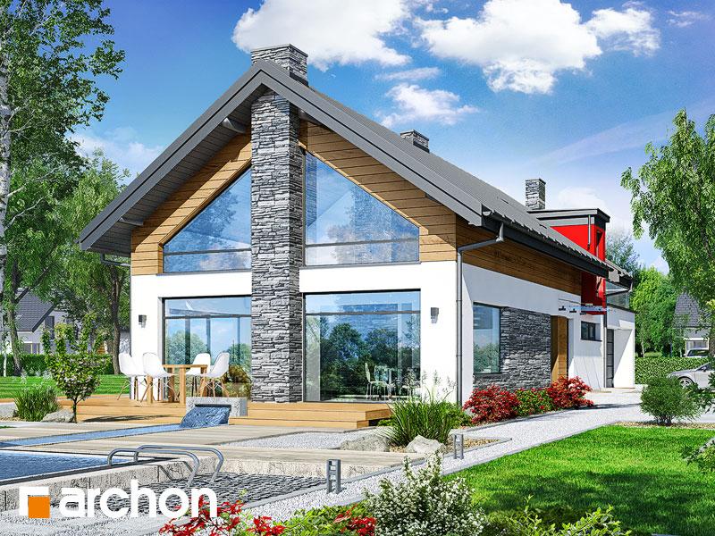 gotowy projekt Dom w laurach (G2P) widok 1