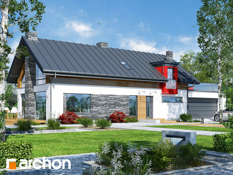 gotowy projekt Dom w laurach (G2P) widok 2