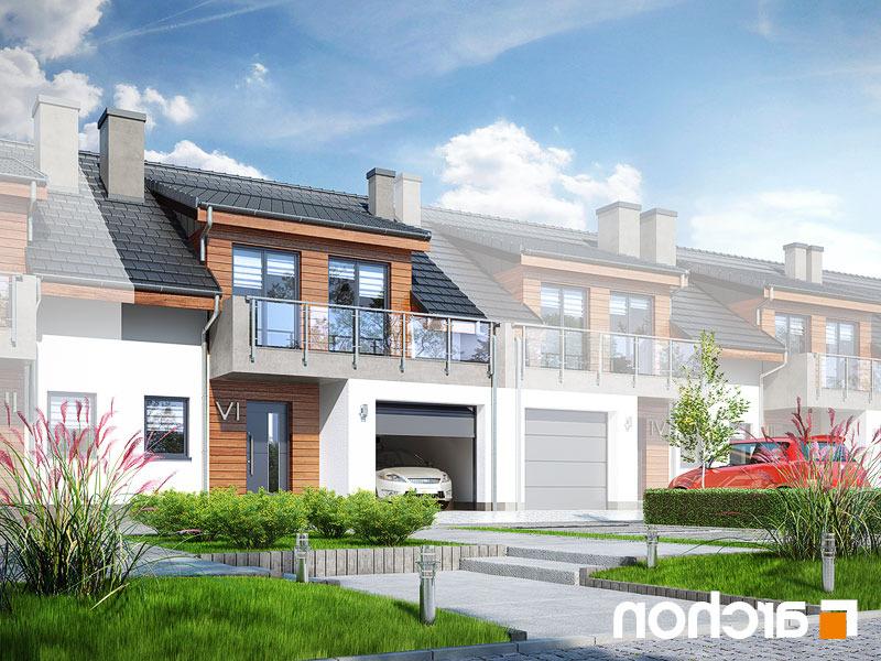 Lustrzane odbicie 1 projekt dom w klematisach 20 s  289lo