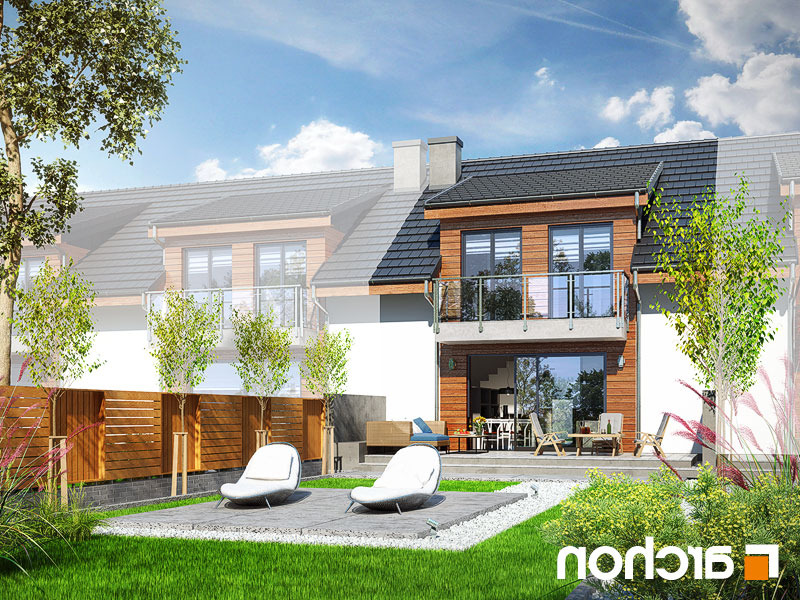 Lustrzane odbicie 2 projekt dom w klematisach 20 s  290lo