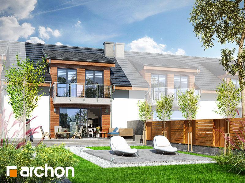 Widok 2 projekt dom w klematisach 20 s  290