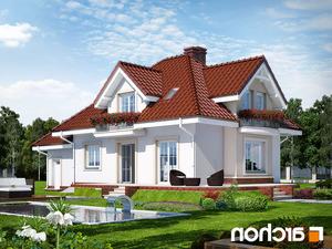 projekt Dom w werbenach lustrzane odbicie 2