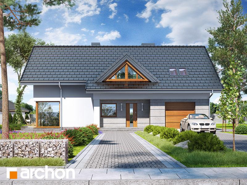 gotowy projekt Dom w wisteriach 4 (P) widok 1