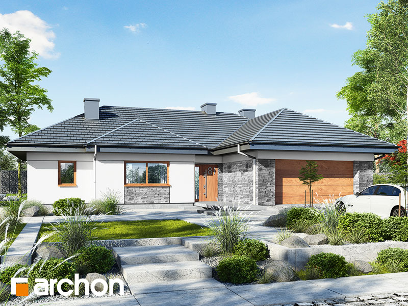 gotowy projekt Dom w nawłociach 2 (G2) widok 1