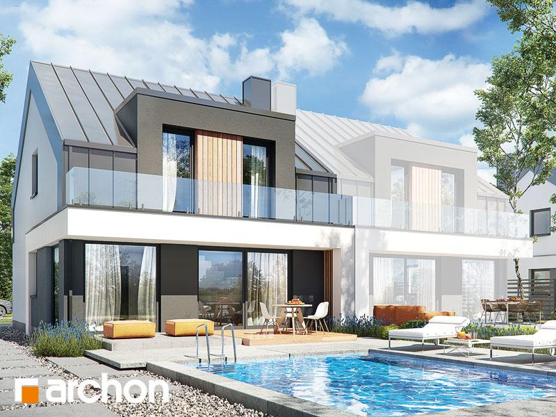gotowy projekt Dom w klematisach 27 (B) widok 1