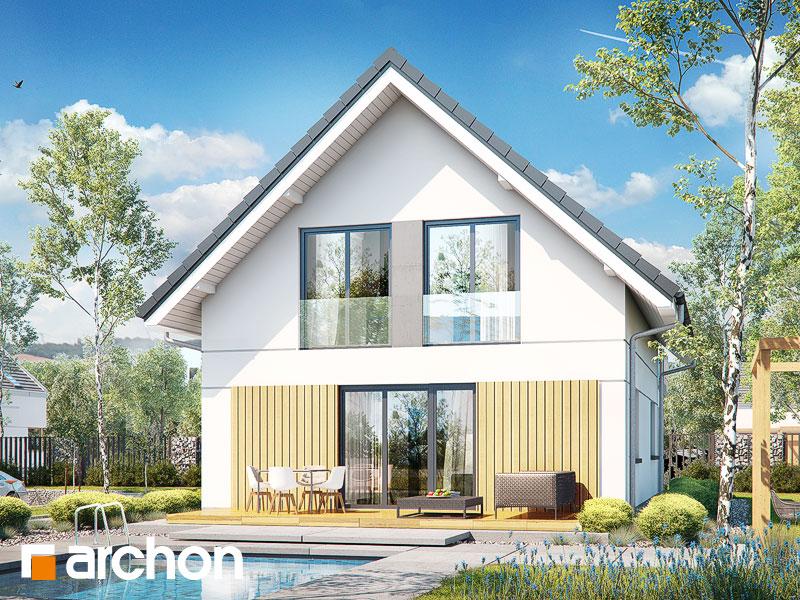 gotowy projekt Dom w zielistkach (GNT) widok 2