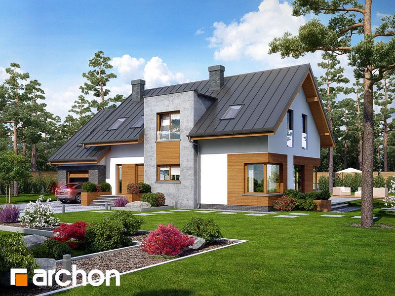 gotowy projekt Dom w moliniach widok 1