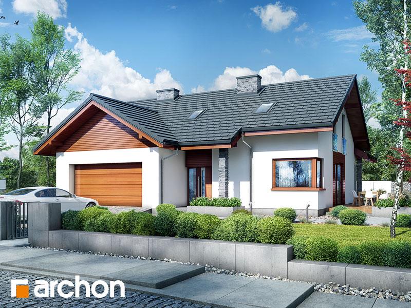 gotowy projekt Dom w pierwiosnkach 2 (G2P) widok 2