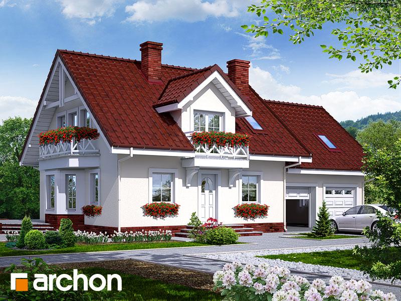 projekt Dom w rododendronach 6 (G2) widok 1