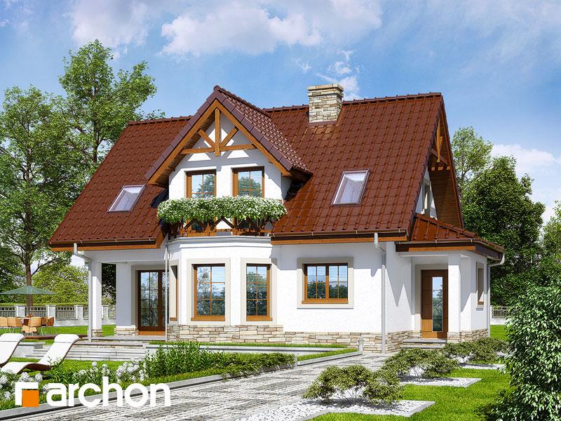 gotowy projekt Dom w żurawinie (P) widok 1