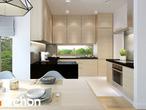 projekt Dom pod jarząbem 7 Wizualizacja kuchni 1 widok 2