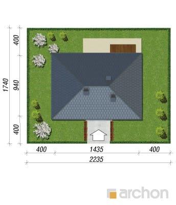 projekt Dom pod jarząbem 7 sytuacja