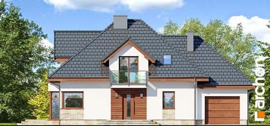Elewacja frontowa projekt dom w nektarynkach 2 n  264