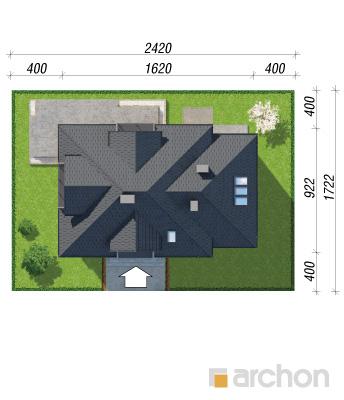 projekt Dom w nektarynkach 2 (N) sytuacja