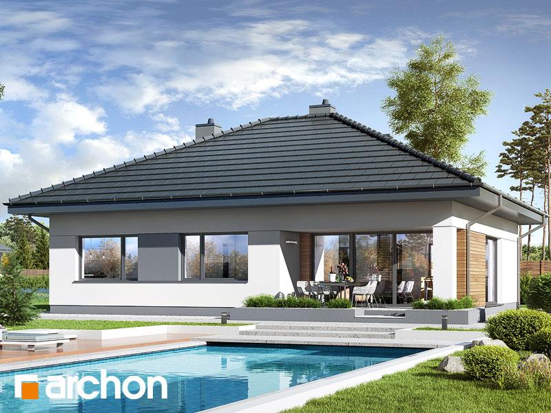 gotowy projekt Dom w santanach widok 1