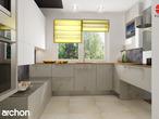 projekt Dom w groszku Wizualizacja kuchni 2 widok 2