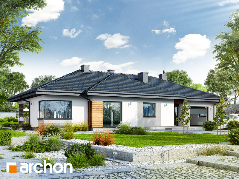 gotowy projekt Dom w żagwinach widok 1