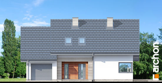 Elewacja frontowa projekt dom w malinowkach 3  264