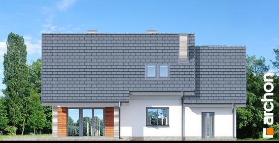 Elewacja ogrodowa projekt dom w malinowkach 3  267