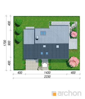projekt Dom w malinówkach 3 sytuacja