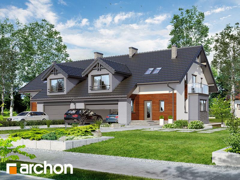 gotowy projekt Dom w klematisach (G2R2) widok 1