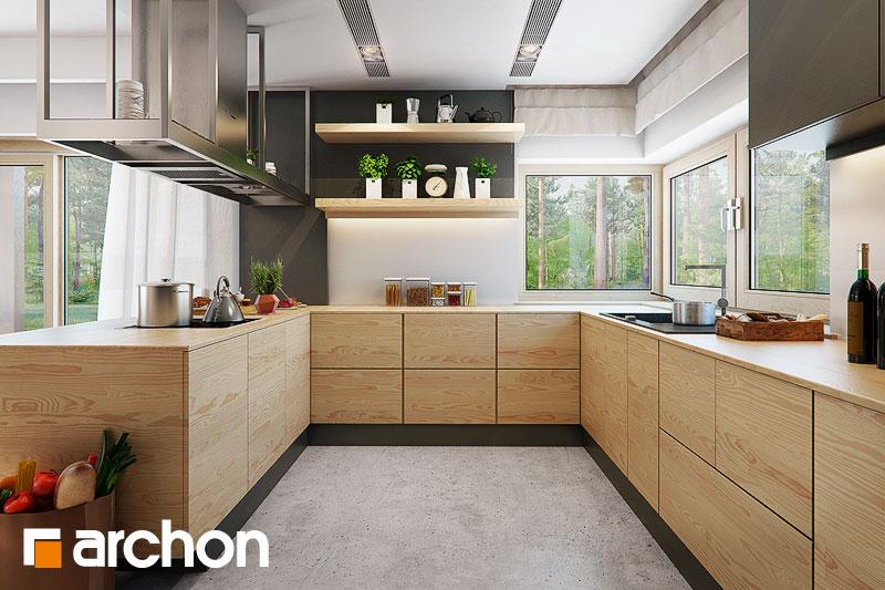 Projekt domu Dom pod jarząbem 17 (NT)  ARCHON+ -> Kuchnia Pod Zabudowe Projekt