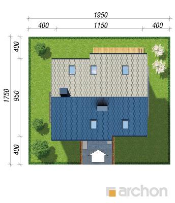 projekt Dom w jabłonkach 4 (P) sytuacja