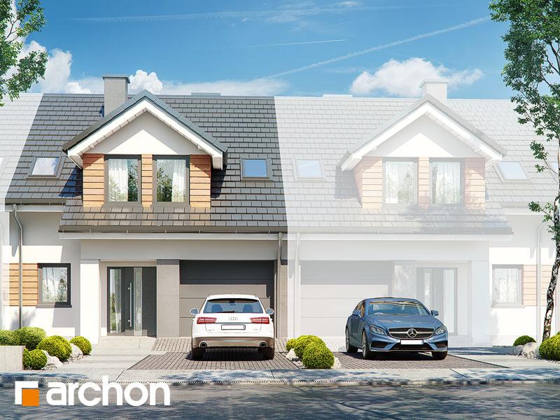 gotowy projekt Dom pod agawami 3 (S) widok 1