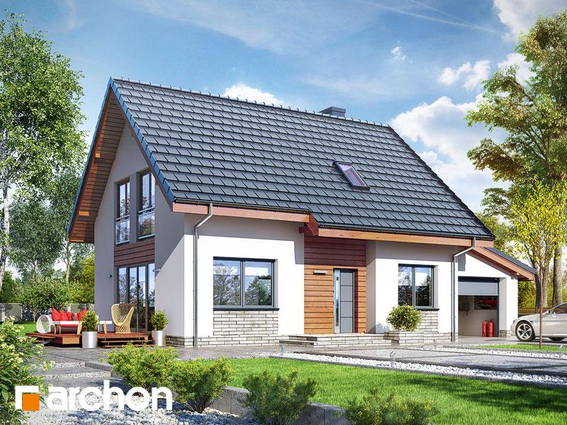 gotowy projekt Dom w zielistkach 3 (G) widok 1