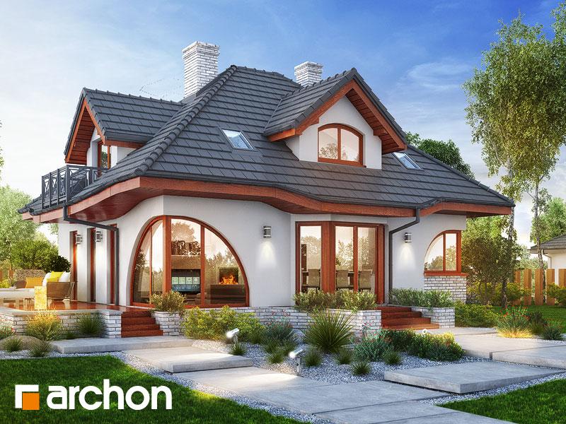 gotowy projekt Dom w zefirantach 5 (P) widok 1