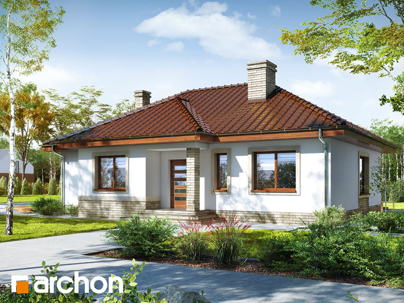 projekt Dom we wrzosach 2 widok 1