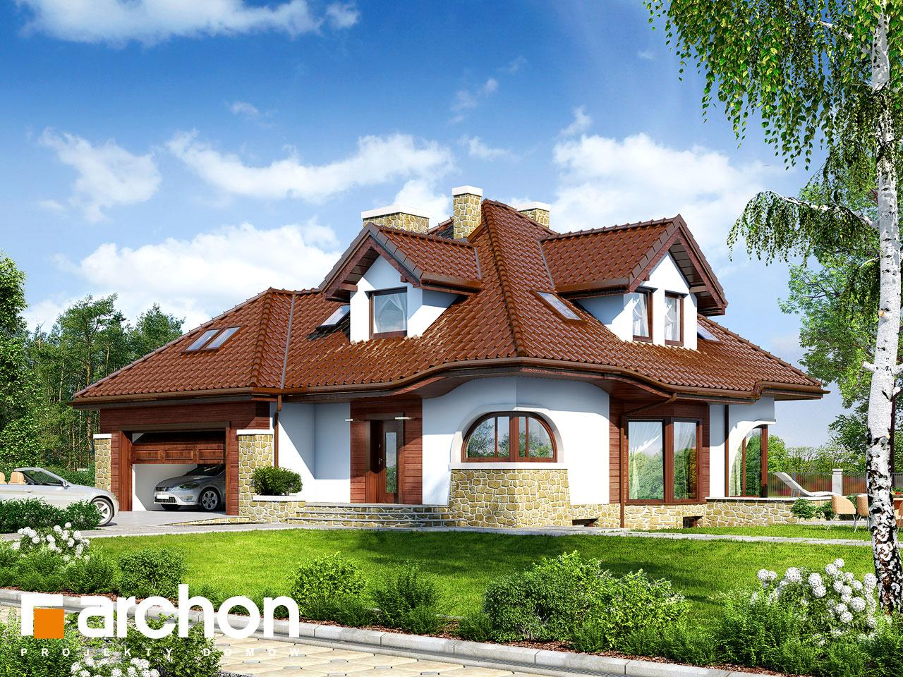 Projekt domu dom w zefirantach g2p archon for Schreibtisch 2 00 m