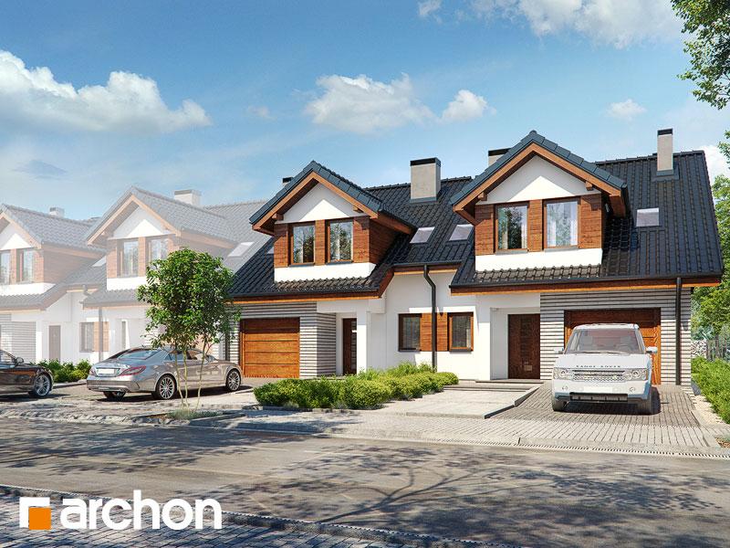 gotowy projekt Dom w klematisach 9 (R2BTA) widok 1