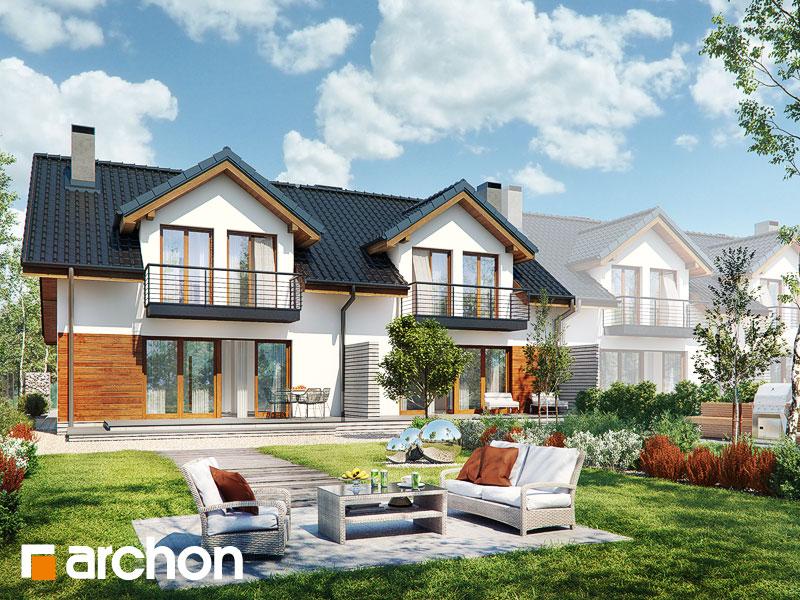 gotowy projekt Dom w klematisach 9 (R2BTA) widok 2
