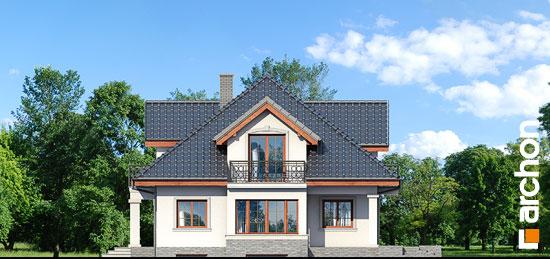 Elewacja boczna projekt dom w kaliach 3 g2p  265