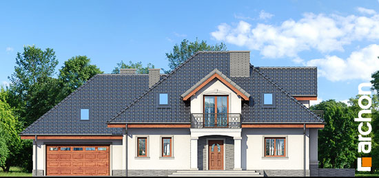 Elewacja frontowa projekt dom w kaliach 3 g2p  264