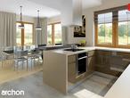 projekt Dom w kaliach 3 (G2P) Wizualizacja kuchni 1 widok 1