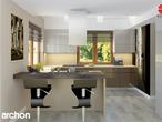 projekt Dom w kaliach 3 (G2P) Wizualizacja kuchni 1 widok 2