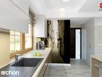 projekt Dom w kaliach 3 (G2P) Wizualizacja kuchni 1 widok 3
