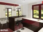 projekt Dom w kaliach 3 (G2P) Wizualizacja kuchni 2 widok 1