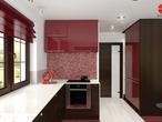 projekt Dom w kaliach 3 (G2P) Wizualizacja kuchni 2 widok 3