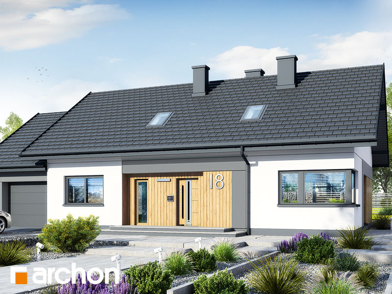 gotowy projekt Dom w kostrzewach 2 (G) widok 1